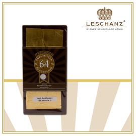 Chocolate bar with 24 carat beaten gold 64% Leschanz