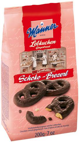 Dark Chocolate Gingerbread Pretzels Manner