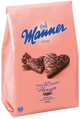Rum Cocoa Cream Wafer Hearts Manner
