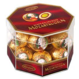 Mozart Balls Mirabell Transparent Box 18 pcs