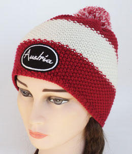 Winter Cap Austria red-white-red