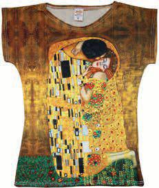 Women T-Shirt Gustav Klimt The Kiss