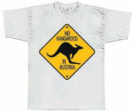 T-Shirt No kangaroos in Austria white
