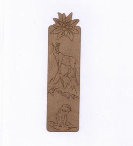 Wooden Bookmark Edelweiss