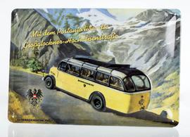 Metal Sign Großglockner Bus