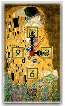 Wooden Wall Clock Gustav Klimt The Kiss