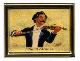 Johann Strauss Fridge Magnet Gold