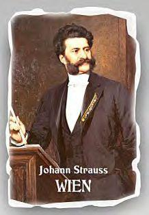 Fridge Magnet Ceramics Johann Strauss