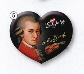 Fridge Magnet Mozart Heart