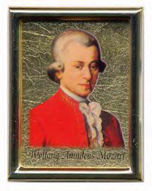 Mozart Fridge Magnet Gold