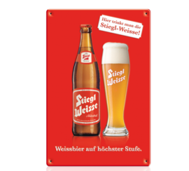 Metal Sign Stiegl Weisse