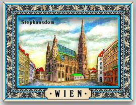 Wood magnet Vienna St. Stephen's Cathedral