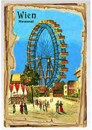 Vienna Giant Ferris Wheel postcard special paperboard